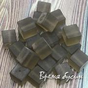 Аква-кварц матовый, кубик гладкий 10х10 мм (1 шт.)