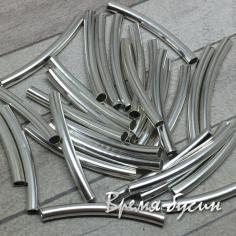 Трубочки-разделители гладкие, цвет серебро, 3х30 мм (10 шт.)