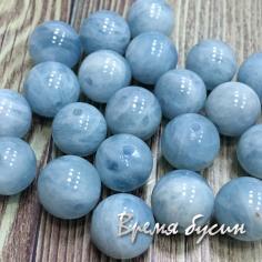 Аквамарин натур., шарик гладкий 10 мм (1 шт.)