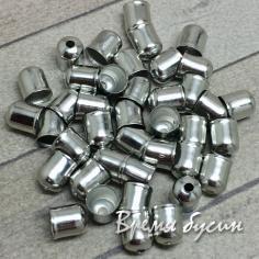 Концевик металлический, цвет никель, 5х6 мм (10 шт.)