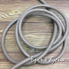 Шнур резиновый полый, 4 мм, цв.  серый   (1 м.)