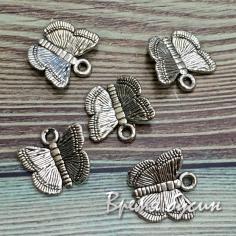 Бабочка. Подвеска металлическая цв. серебро (1 шт.)