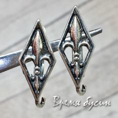 Швензы с английским замком, цв. Античное серебро (1 пара)
