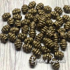 Разделители для бусин под бронзу, 4х5 мм (5 гр., ок. 21 шт.)