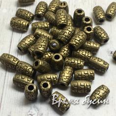 Разделители для бусин под бронзу, 4х6 мм (5 гр., ок. 12 шт.)