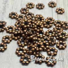 Разделители для бусин под медь, 1х5 мм  (5 гр., ок. 45 шт.)