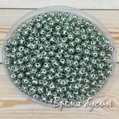 Бусины из филиграни, 4 мм, цвет никель (5 гр., ок. 100 шт.)