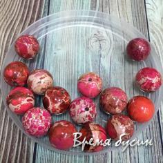 ОСТАТОК: Варисцит. Бусина шарик 10 мм Красный (1 шт.)