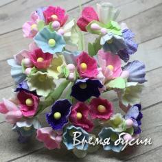 Букетик цветов из бумаги, цв. разноцветный (4 шт.)