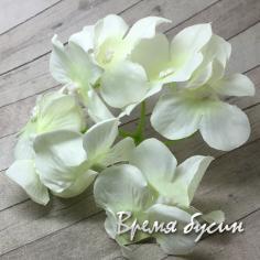 """Цветок из ткани """"Гортензия"""", ок. 100 мм., цв. лимонный (1 шт.)"""