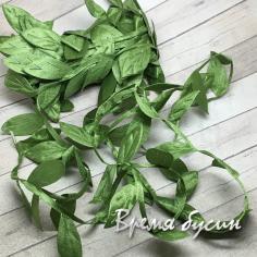 Тесьма с листиками, цв. зеленый (1 м.)