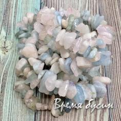 Крошка каменная. Берилл натуральный (нить ок. 40 см.)