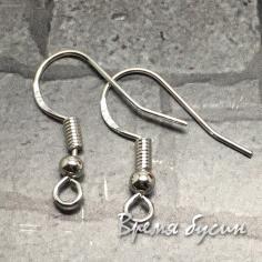 Швензы крючки, покрытие серебром 925 пробы (1 пара)