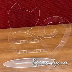 Подставка для бижутерии акриловая, прозрачная 25х26 см (1 шт.)