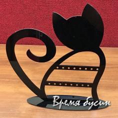 Подставка для бижутерии акриловая, цв. черный 25х26 см (1 шт.)