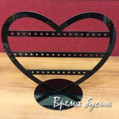 Подставка для бижутерии акриловая, цв. черный 23х29 см (1 шт.)