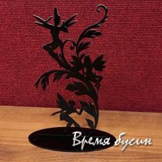 Подставка для бижутерии акриловая, цв. черный 14х26 см (1 шт.)
