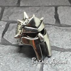 """Бусина с фианитами """"Шлем"""", латунь с родиевым покрытием (1 шт.)"""
