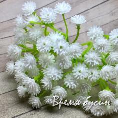 Соцветие гипсофилы, ок. 80 мм, цв. белый (1 шт.)