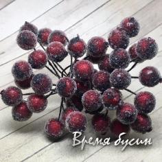 Ягодки с обсыпкой, цв. бордовый (10 шт.)