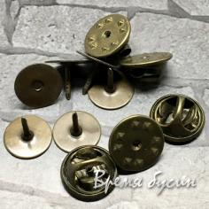Основа-гвоздик для значка, цв.  бронза (1 шт.)