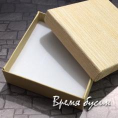 Коробочка подарочная квадратная 9х9х3 см, цв. желтый