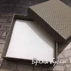 Коробочка подарочная квадратная 9х9х3 см, цв. темно-коричневый