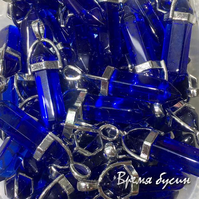 Кулон-кристалл из стекла, 9х30 мм (1 шт.)
