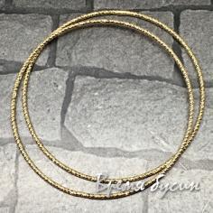 Кольца с насечкой, 40 мм, латунь с позолотой (2 шт.)