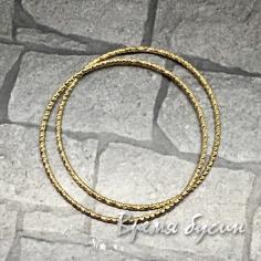 Кольца с насечкой, 30 мм, латунь с позолотой (2 шт.)