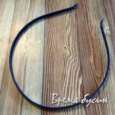 Основа для ободка в ленте, 5 мм, цв. синий (1 шт.)