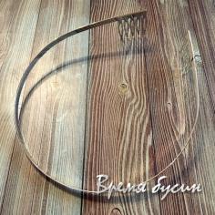 Основа для ободка с гребнями, 5 мм, цв. никель (1 шт.)