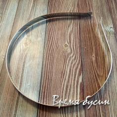 Основа для ободка, 8 мм, цв. никель (1 шт.)