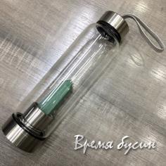 Нефрит. Бутылка для воды с кристаллом (1 компл.)