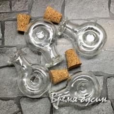 Мини-бутылочка из стекла с пробкой (1 шт.)