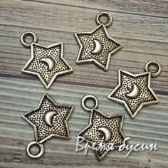 Звезда. Подвеска металлическая, цв. серебро (1 шт.)