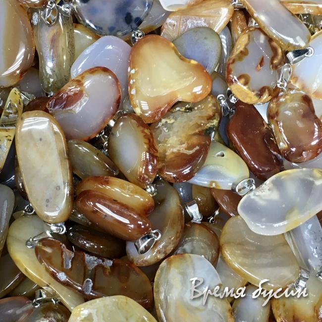 Сердолик. Кулон из камня в ассортименте (1 шт.)