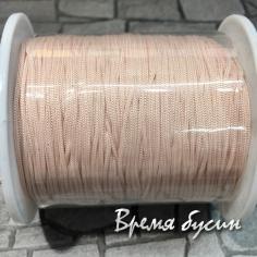 Шнур нейлоновый круглый 0.5 мм, цв. бледно-розовый (катушка 90 м.)