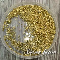 Кримпы мелкие, обжимные бусины, цв. Золото (0,5 гр.)