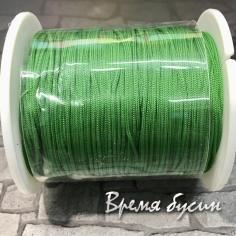 Шнур нейлоновый круглый 0.5 мм, цв.яблочно-зеленый (катушка 90 м.)