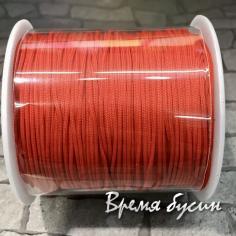 Шнур нейлоновый круглый 0.5 мм, цв. красный (катушка 90 м.)