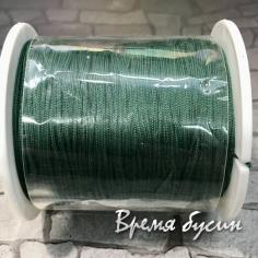 Шнур нейлоновый круглый 0.5 мм, цв. темно-зеленый (катушка 90 м.)