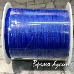 Шнур нейлоновый круглый 0.5 мм, цв. синий (катушка 90 м.)