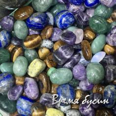 Галтовка из натурального камня, микс (1 шт.)