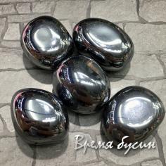 Гематит синт. серебряный, галтовка из натур. камня весом 10-12 гр.      (1 шт.)