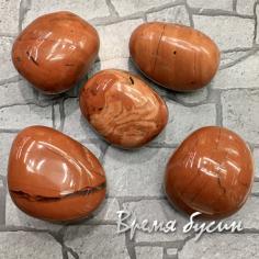 Яшма красная, галтовка из натур. камня весом 23-25 гр.      (1 шт.)