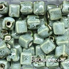 Бусина керамическая с глазурью, кубик 8 мм (1 шт.)