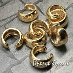 Кафф для ушка, кольцо зажимное, латунь с позолотой (1 шт.)