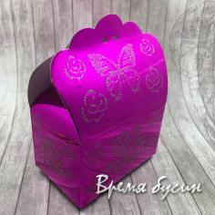 Коробка подарочная складная, цвет малиновый (1 шт.)