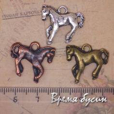Лошадь. Подвеска под серебро, медь и бронза
